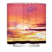 Sunset, Canyon De Chelly, Arizona, Usa Shower Curtain
