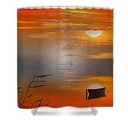 Sunset Charm, 30 Landscape Wall Art Painting Pack  Sunset-sunrise, Evening, Sea, Water, Ocean Etc  Shower Curtain