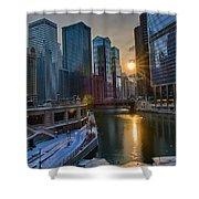 Sunset Chicago Shower Curtain
