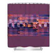Sunset City Shower Curtain