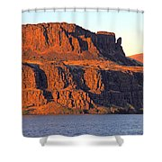 Sunset Cliffs At Horsethief  Shower Curtain by Talya Johnson