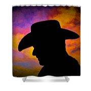 Sunset Cowboy Shower Curtain