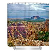 Sunset Crater View From Desert View On East Side Of South Rim Grand Canyon National Park-arizona  Shower Curtain