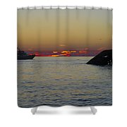 Sunset Cruise At Cape May Shower Curtain