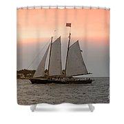 Sunset Cruise Shower Curtain