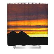 Sunset Death Valley Rectangular Img 0283 Shower Curtain