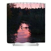 Sunset Deer Shower Curtain