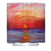 Sunset Delaware Bay Shower Curtain