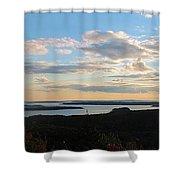 Sunset Dore Mountain Shower Curtain