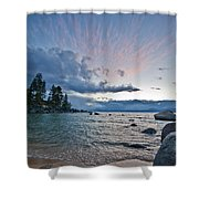 Sunset Drama At Tahoe Shower Curtain