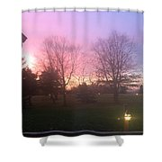 Sunset Elegant Fall Tree Show Skyview Resort Weekend Getaway To Poconos Pa America Usa Landscape Nav Shower Curtain