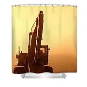 Sunset Excavator Shower Curtain