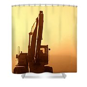 Sunset Excavator Shower Curtain
