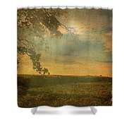 Sunset Farmland Shower Curtain