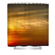Sunset Feather Clouds Shower Curtain