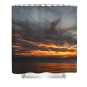 Sunset Fiery Sky Shower Curtain