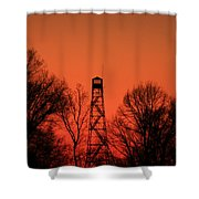 Sunset Fire Tower In Oconee County Shower Curtain