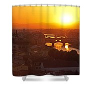 Sunset Florence Shower Curtain