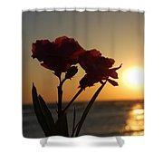 Sunset Flowers Shower Curtain