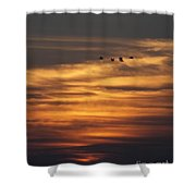 Sunset Flyby Fulton Texas Shower Curtain