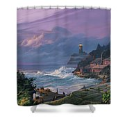 Sunset Fog Shower Curtain