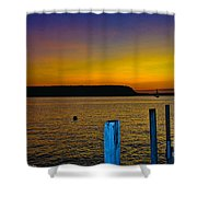 Sunset From Andersons Dock Shower Curtain