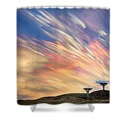 Sunset From Another Planet  Shower Curtain