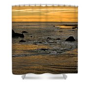 Sunset From Damon Point Shower Curtain