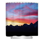 Sunset From Hedrick Pond Shower Curtain