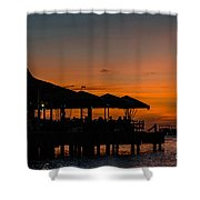 Sunset From Pelican Pier Shower Curtain