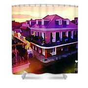 Sunset From The Balcony In The French Quarter Of New Orleans Shower Curtain