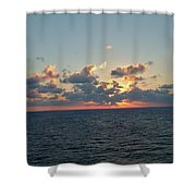Sunset From The Carnival Triumph Shower Curtain