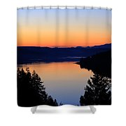 Sunset From The Deck Shower Curtain