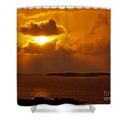 Sunset From The Dolphin Watch Cottage Shower Curtain