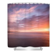 Sunset From The South Jetty Shower Curtain