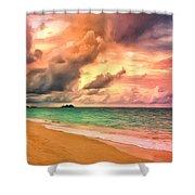 Sunset Glow At Waimanalo Shower Curtain