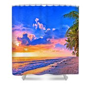 Sunset Glow On The Kona Coast Shower Curtain