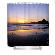 Sunset Gold Big Sur Shower Curtain