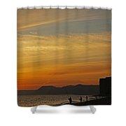 Sunset Hive Beach Summer 2010 Four Shower Curtain