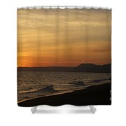 Sunset Hive Beach Summer 2010 Two Shower Curtain