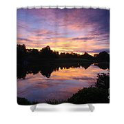 Sunset II At Japanese Garden Shower Curtain