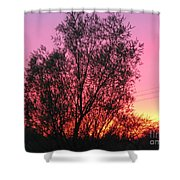 Sunset In April- Silute Lithuania Shower Curtain