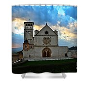 Sunset In Assisi Shower Curtain