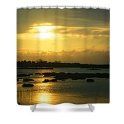 Sunset In Camargue - France Shower Curtain