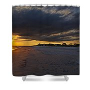 Sunset In Cape May Along The Beach Shower Curtain