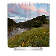 Sunset In Cobb Valley Of Kahurangi Np Of New Zealand Shower Curtain