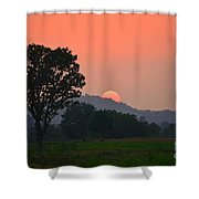 Sunset In Countryside Shower Curtain