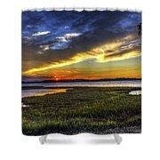 Sunset In Delaware Shower Curtain