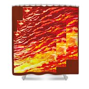 Sunset In Desert Abstract Collage  Shower Curtain