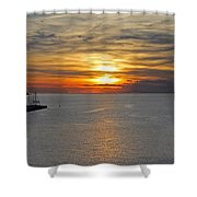 Sunset In Koper Shower Curtain